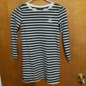 Ralph Lauren Black and White striped Dress